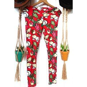 Lularoe festive Christmas foodie leggings